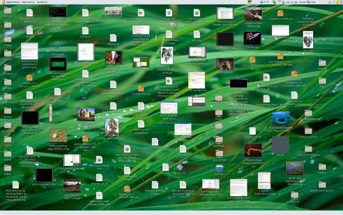 a cluttered desktop